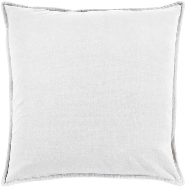Cotton Velvet Light Gray Poly Cotton Lumbar Pillow - 20x13x4 CV013-1320P
