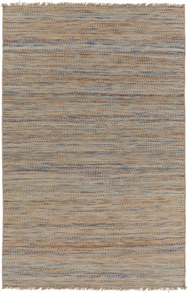 Cove Cobalt Sky Blue Light Gray Jute Wool Area Rug (L 90 X W 60) CVE3002-576