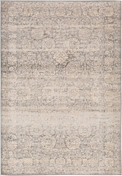Surya City light Wheat Charcoal Light Gray Polypropylene Area Rug - 120x94 CYL2300-71010