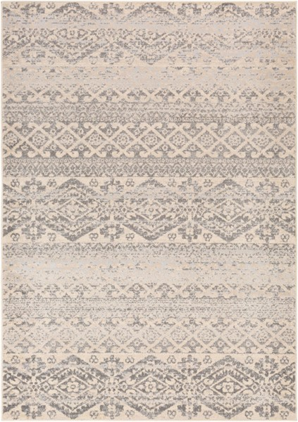 Surya City light Charcoal Wheat Light Gray Polypropylene Area Rug - 87x63 CYL2303-5373