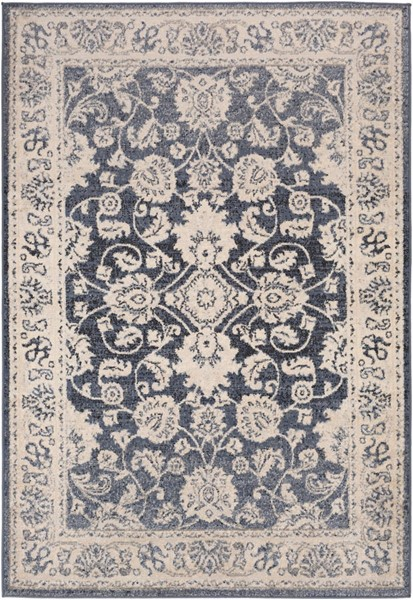 Surya City light Denim Light Gray Wheat Polypropylene Area Rug - 120x94 CYL2306-71010