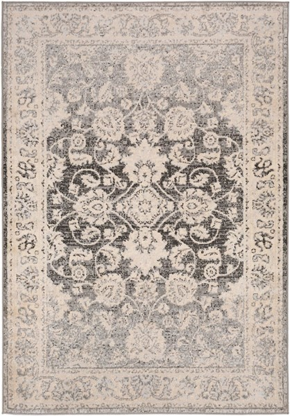 Surya City light Black Charcoal Light Gray Polypropylene Area Rug - 87x63 CYL2308-5373