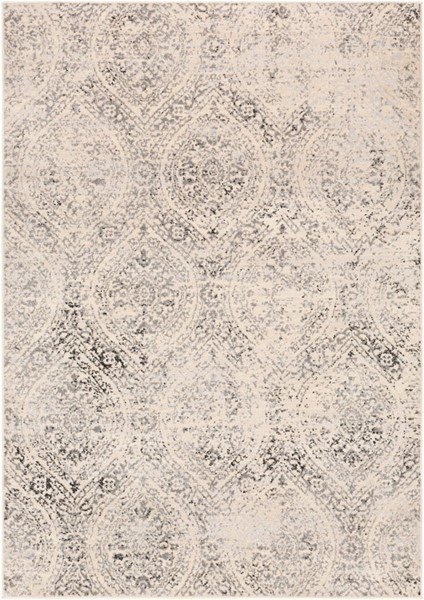 Surya City light Charcoal Light Gray Black Polypropylene Area Rug - 120x94 CYL2318-71010