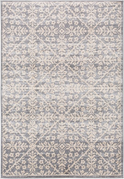 Surya City light Charcoal Light Gray Wheat Polypropylene Area Rug - 108x79 CYL2323-679