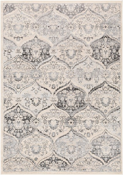 Surya City light Charcoal Black Light Gray Polypropylene Area Rug - 108x79 CYL2324-679
