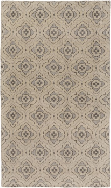 Cypress Beige Charcoal Wool Area Rug (L 96 X W 60) CYP1014-58