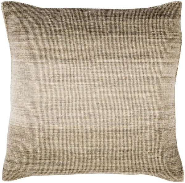 Chaz Pillow with Down Fill in Olive - 22 x 22 x 5 CZ002-2222D
