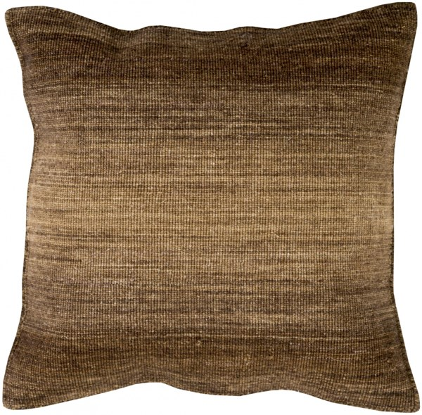 Chaz Pillow with Poly Fill in Chocolate - 22 x 22 x 5 CZ004-2222P