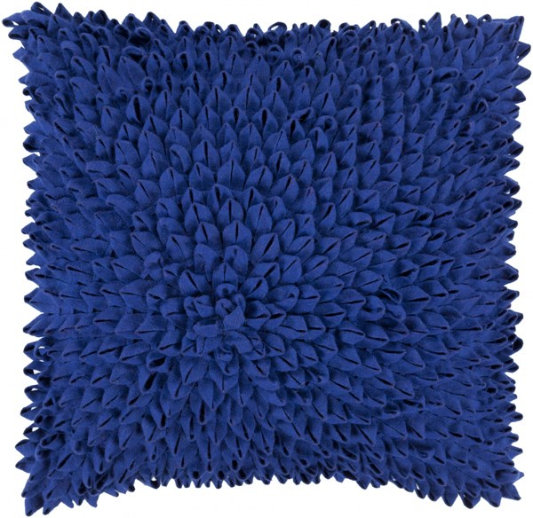 Dahlia Cobalt Down Acrylic Throw Pillow - 20x20x5 DA002-2020D