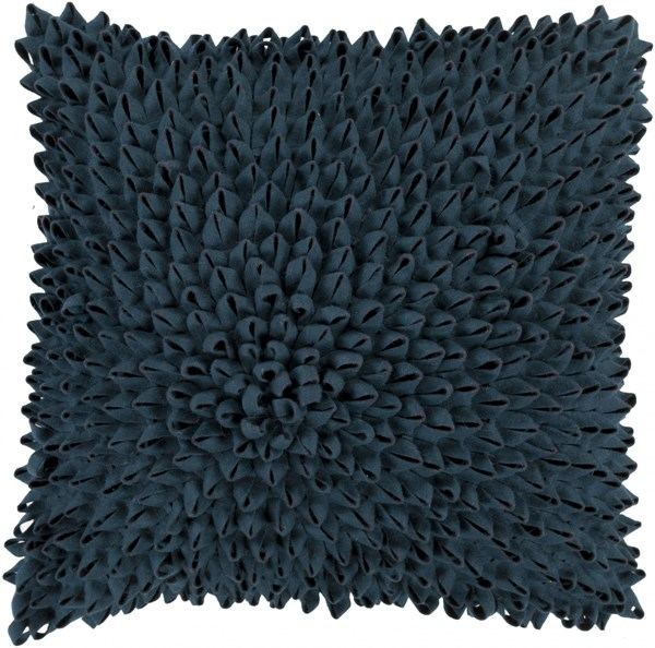 Dahlia Navy Poly Acrylic Throw Pillow - 18x18x4 DA005-1818P
