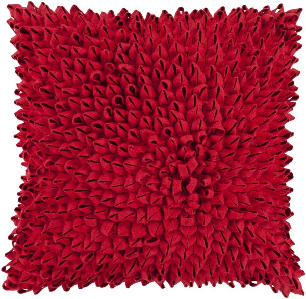 Dahlia Cherry Down Acrylic Throw Pillow - 22x22x5 DA006-2222D