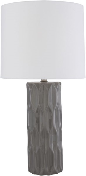 Surya Draven Medium Gray Ceramic Table Lamp - 13x27 DAE-002