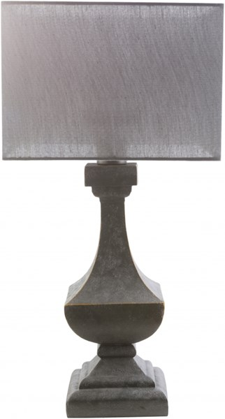 Davis Antique Pewter Gray Resin Polyester Table Lamp (W 15 X H 31) DAV483-TBL
