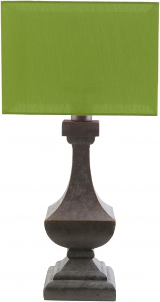 Davis Antique Pewter Green Resin Polyester Table Lamp (W 15 X H 31) DAV486-TBL