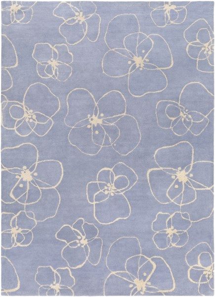 Decorativa Iris Light Gray Wool Area Rug - 96 x 132 DCR4025-811