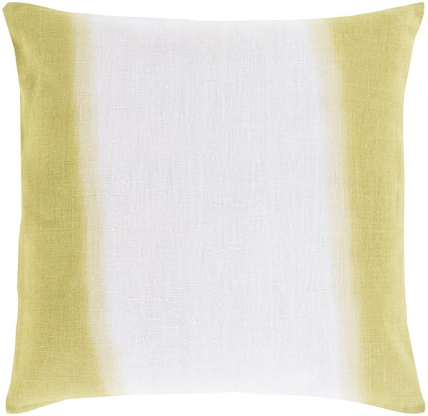 Double Dip Contemporary Light Gray Lime Olive Linen Throw Pillows 13380-VAR1
