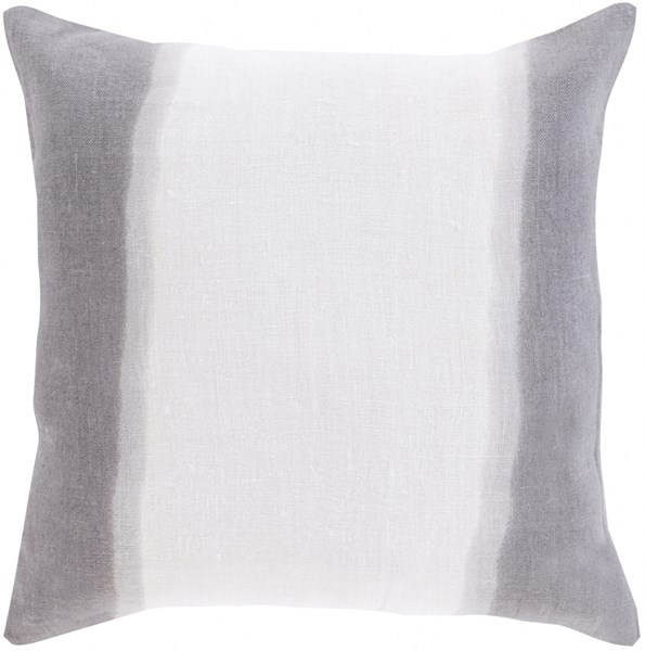 Double Dip Charcoal Light Gray Poly Linen Throw Pillow - 20x20x5 DD003-2020P