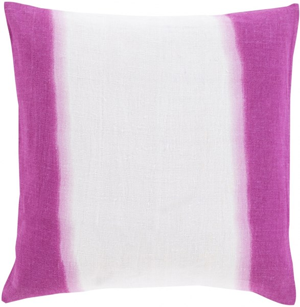 Double Dip Gray Magenta Pink Down Linen Throw Pillow - 22x22x5 DD006-2222D