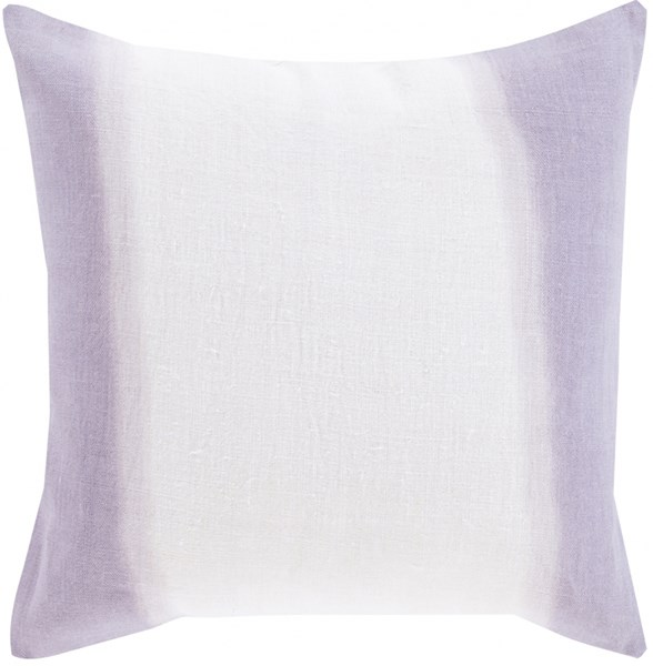 Double Dip Gray Mauve Lavender Down Linen Throw Pillow - 20x20x5 DD007-2020D