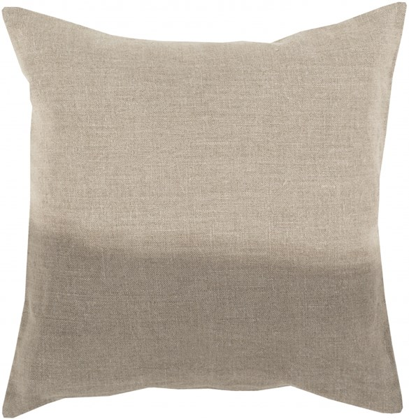 Dip Dyed Light Gray Poly Linen Throw Pillow - 18x18x4 DD011-1818P