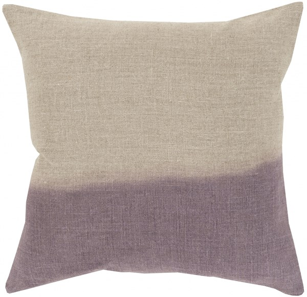 Dip Dyed Light Gray Mauve Poly Linen Throw Pillow - 20x20x5 DD016-2020P