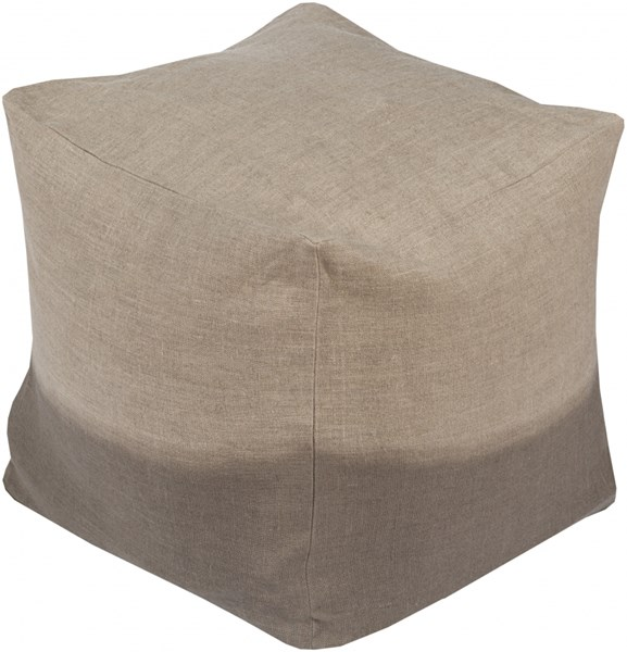 Dip Dyed Contemporary Gray Fabric Pouf (L 18 X W 18 X H 18) DDPF008-181818