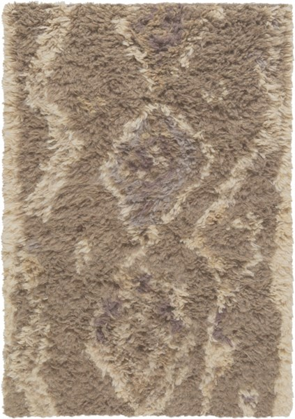 Denali Taupe Light Gray Chocolate Wool Area Rug (L 36 X W 24) DEN5003-23