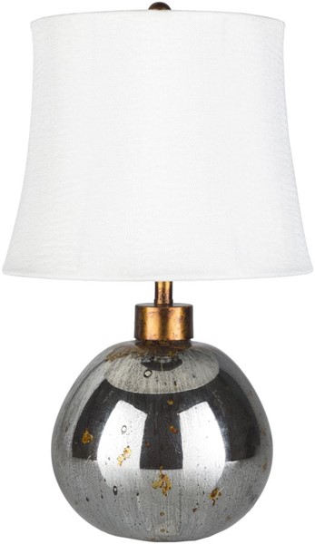 Surya Derby White Glass Table Lamp - 11x19 DER-001