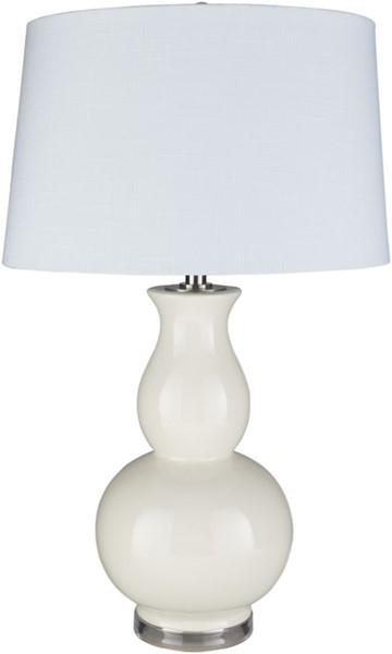 Surya Devon Cream Ceramic Acrylic Table Lamp - 18x30.50 DEV-003