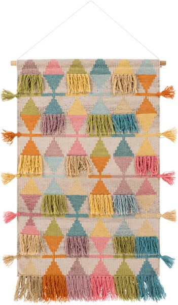 Surya Adia Wool Hand Woven Wall Hangings - 24x43 DIA1000-2443