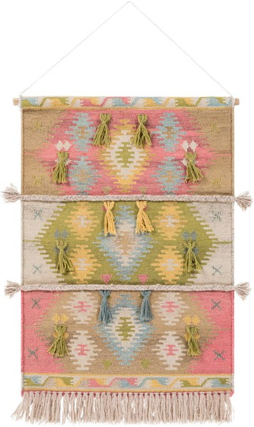 Surya Adia Rose Wool Wall Hangings - 24x36 DIA1002-2436