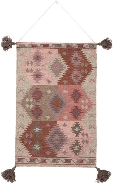 Surya Adia Taupe Wool Wall Hangings - 24x36 DIA1007-2436
