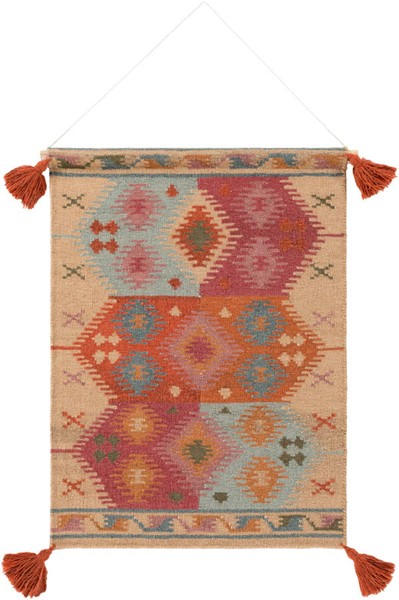Surya Adia Khaki Wool Wall Hangings - 24x36 DIA1008-2436