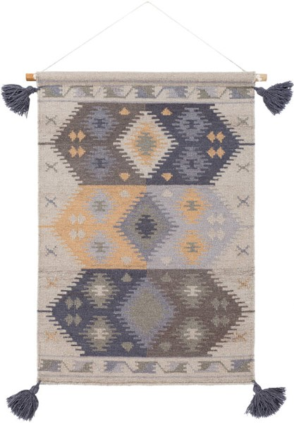 Surya Adia Charcoal Wool Wall Hangings - 24x36 DIA1009-2436