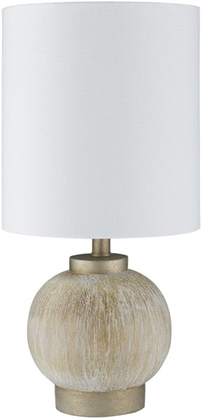 Surya Devlin Ivory Linen Table Lamp - 8x16.50 DLV-002