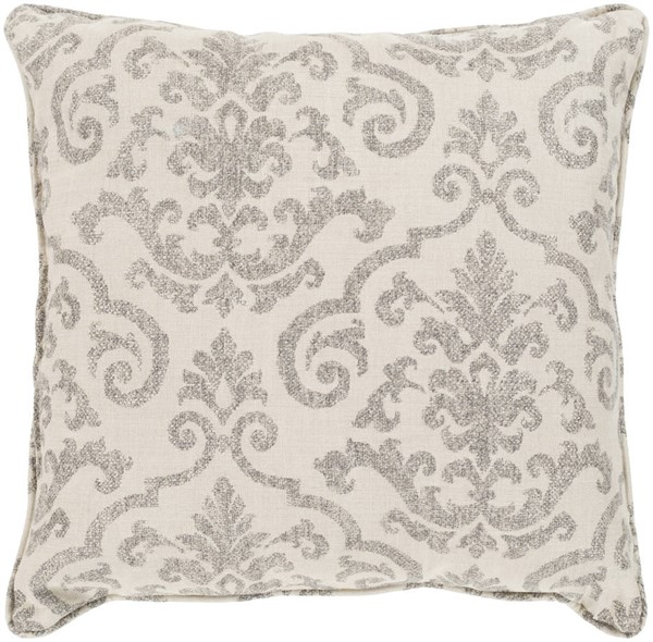 Surya Damara Ivory Brown Pillow Cover - 20x20 DM002-2020