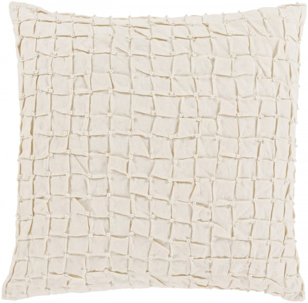 Diana Pillow with Down Fill in Ivory - 20 x 20 x 5 DN001-2020D