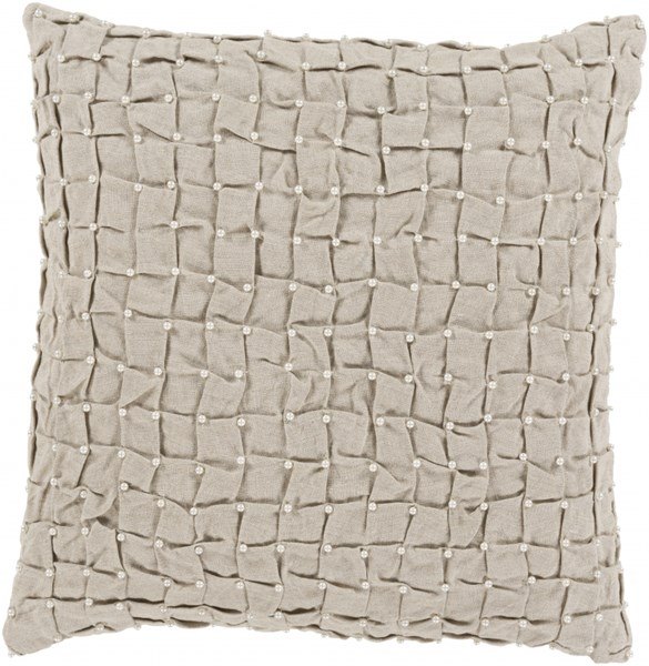Diana Pillow with Poly Fill in Ivory Light Gray - 20 x 20 x 5 DN002-2020P