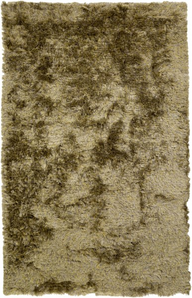 Dunes Modern Lime Taupe Gray Polyester Area Rug (L 96 X W 60) DNE3521-58
