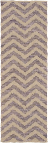 Denim Contemporary Mauve Beige Cotton Runner (L 96 X W 30) DNM1003-268