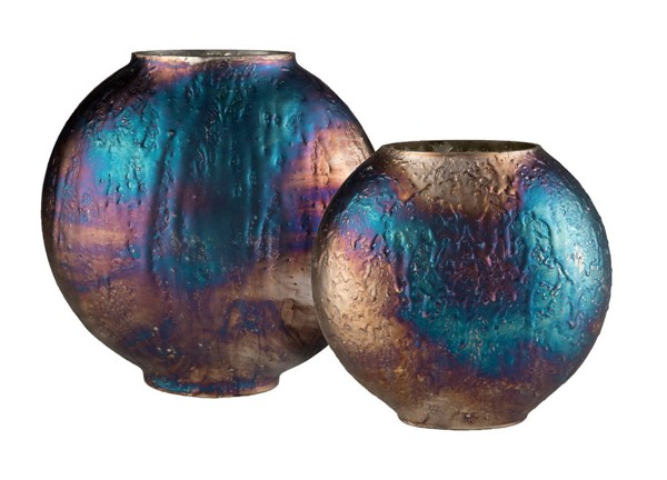 Surya Donia Blue Glass 2pc Vase Set DOI001-SET