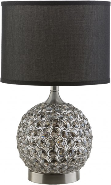 Dauphine Brushed Nickel Silver Iron Crystal Table Lamp - 11.5x20 DPH194-TBL