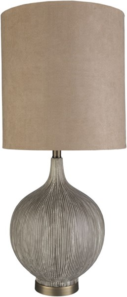 Surya Drake Charcoal Ceramic Table Lamp - 14x32 DRK-001