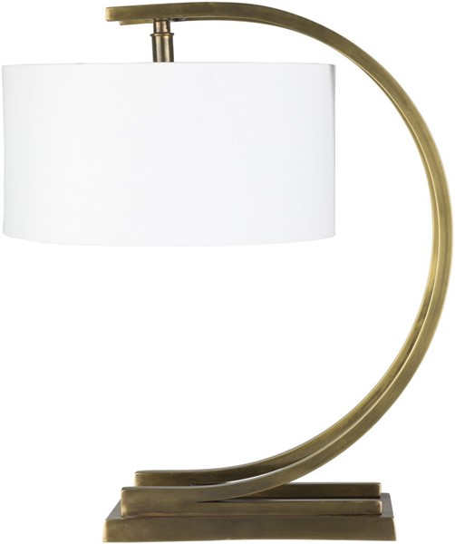 Surya Dresher White Antique Brass Metal Table Lamp - 15.5x18.50 DRS-001