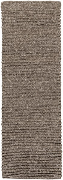 Desoto Contemporary Charcoal Gray Black Wool Runner (L 96 X W 30) DSO200-268