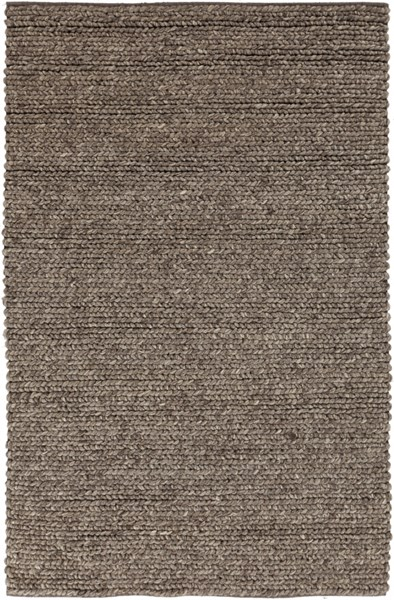 Desoto Contemporary Charcoal Gray Black Wool Area Rug (L 96 X W 60) DSO200-58