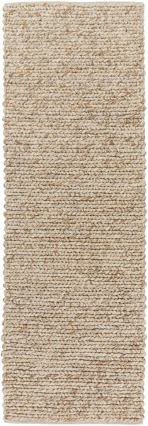 Desoto Contemporary Ivory Beige Tan Wool Runner (L 96 X W 30) DSO201-268