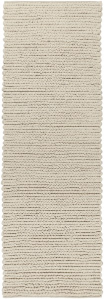 Surya Desoto Contemporary Cream Dark Brown Wool Runner - 96x30 DSO202-268