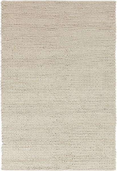 Surya Desoto Contemporary Cream Dark Brown Wool Area Rug - 96x60 DSO202-58