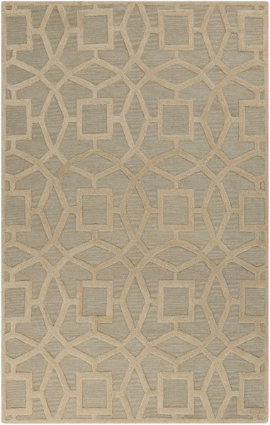 Dream Contemporary Slate Beige Wool Area Rug (L 96 X W 60) DST1170-58